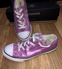 Csillogós Converse tornacipő rózsaszín