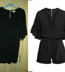 H&M fekete rövid különleges jumpsuit 36 38 új