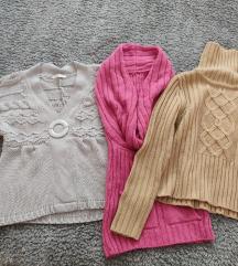 Kötött pulóverek, mellény (S-M) - egyben/külön