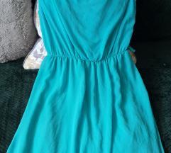 Türkiz kék csipkés ruha
