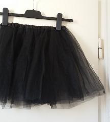 Fekete áttetsző gumis derekú szoknya, XS/S-es