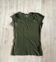 H&M zöld basic póló