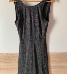 H&M fekete csillogós ruha