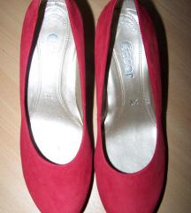 Gabor piros  velúrcipő 36,5 Új