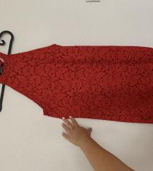 Zara ruha piros csipke