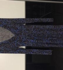 Kék mintás őszi-tavaszi csinos ruha