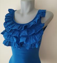 Fodros kék top