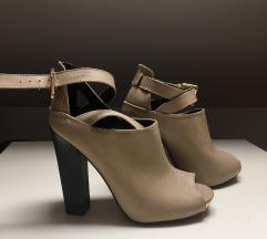 Bézs platform magassarkú cipő, szandál 39