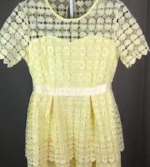 Új sárga csipkes ruha