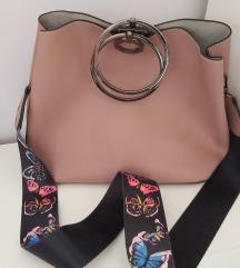 Fém karikás divatos táska