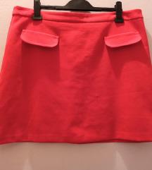 Nagyméretű piros szoknya