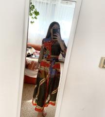 Új ZARA Chain Scarf Print Shirt Dress