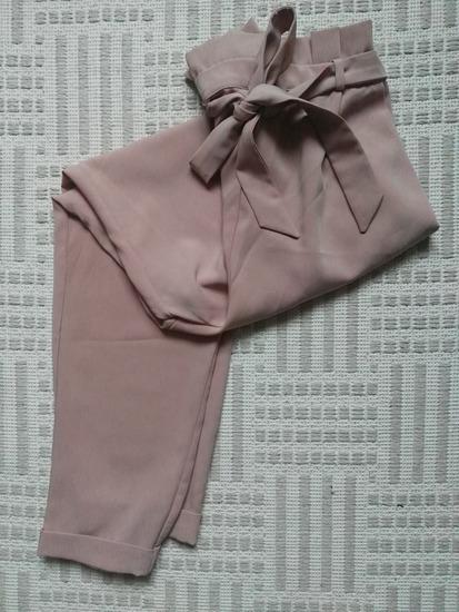 ÚJ! Pull&Bear paperbag nadrág pasztellrózsaszín