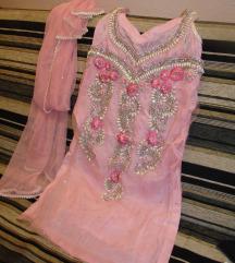 Indiai női ruha kendővel. 34-es , XS-es méret.