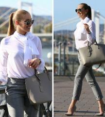 Premium Minőség | Designer Fehér Masnis Blúz Body