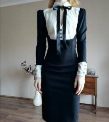 Fekete ruha gallérral és masnival Envy