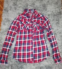 kék-piros kockás ing