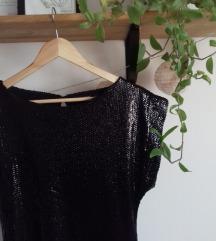 ATMOSPHERE fekete flitteres ruha