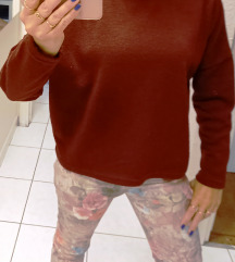 Bordó lazább fazonú felső, pulóver