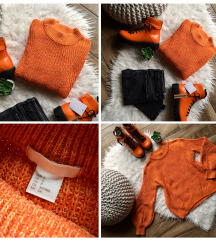 ⚡️AKCIÓ⚡️H&M narancs színű kötött pulóver