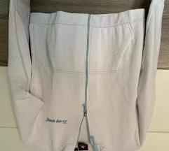 Fehér cipzáros vintage pulóver