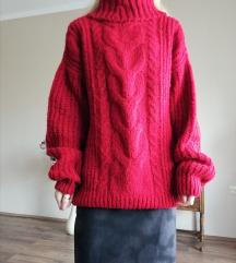 Piros kötött pulóver Amnesia