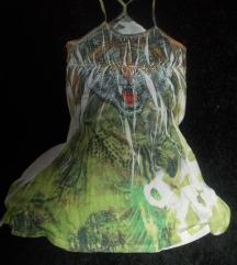 Tigrises köves designer tunika, felső, mini