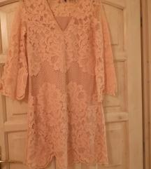 Vero Moda rózsaszín csipkés ruha