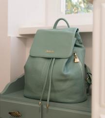 Bostanten zöld valódi bőr nagy hátizsák