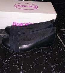Fekete telitalpú balerina cipő 36
