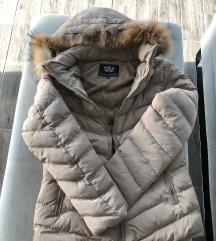 Bézs 2XL téli kabát - teljesen új