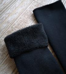Polár belsejű vastag, meleg zokni