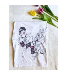 H&M egyedi tervezésű bő póló (XS-S)