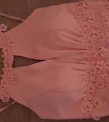 LEÁRAZÁS Rózsaszín koszorúslány ruha