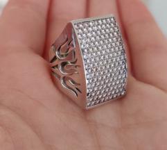 Egyedi fehérarany gyűrű