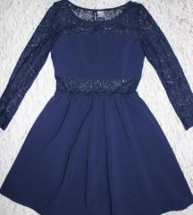 Csipkés kék H&M ruha