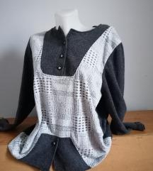 Női, szürke, meleg pulóver, XL-es