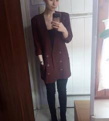 Elegáns, barna átmeneti kabát
