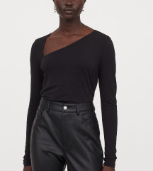 H&M fekete különleges hosszúujjú felső S 36