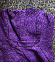 New Look aszimmetrikus lila koktél ruha