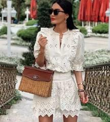 Zara hímzett csipke ruha S új
