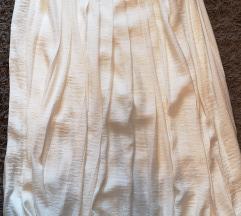 H&M elegáns krémszínű szoknya