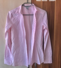 H&M fehér rózsaszíncsíkos ing 40es