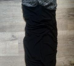 Fekete köves pánt nélküli ruha 👗