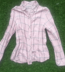 Orsay rózsaszín kockás blúz