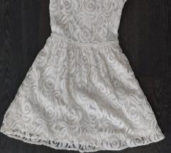 H&M fehér csipke ruha
