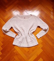 FB Sister nude kötött pulcsi XS-S