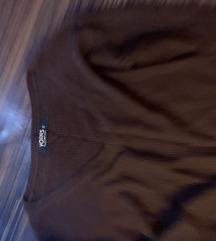 Csokibarna kotott pulcsi M-L