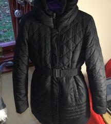 M-es fekete téli kabát
