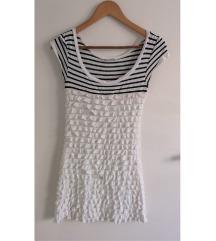 PROMOD kék-fehér csíkos ruha XS/S